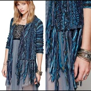 Free People Birkenstock Fringe Cardigan Sweater